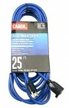 016/3 25 In. Blue Extension Cord