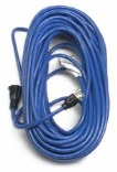 BLUE 100 FEET 14/3 INCH EXTENSION CORD