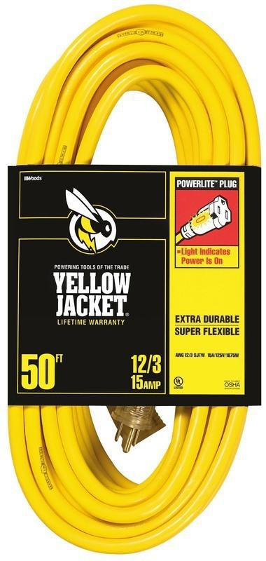 12/3 50 Ft. Yellow Jacket Extension Cord