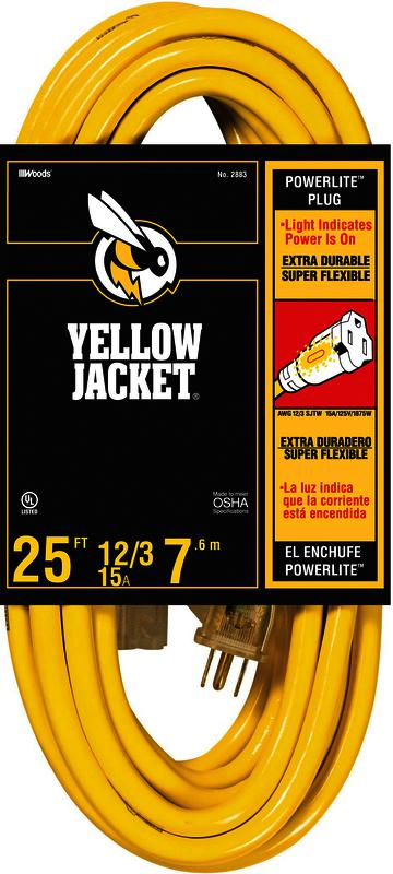 12/3 25 Ft. Yellow Jacket Extension Cord