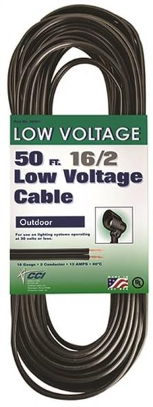 Coleman 09501 Low Voltage Electrical Cable, 16 AWG, 50 ft