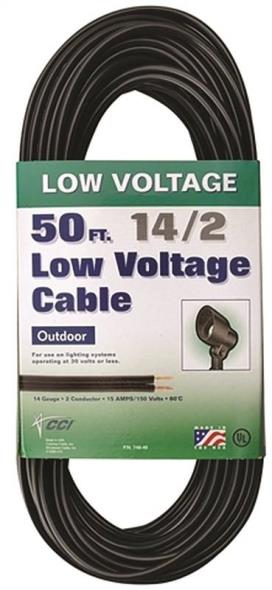 Coleman 09503 Low Voltage Electrical Cable, 14 AWG, 50 ft