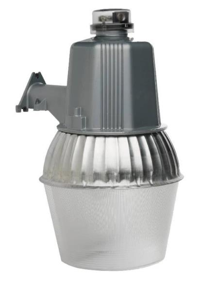 CCI Modern High Pressure Sodium Security Farm Light, Powder Coated Housing, (1) ED17 Lamp, 120 V, 75 W