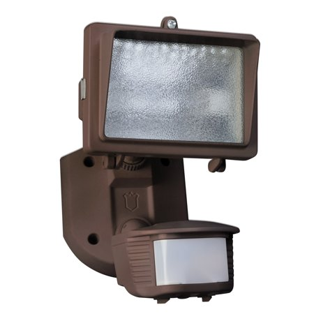 Designers Edge L-6006BR Single Head Motion Activated Flood Light, 120 V, 150 W, Halogen, 150 W