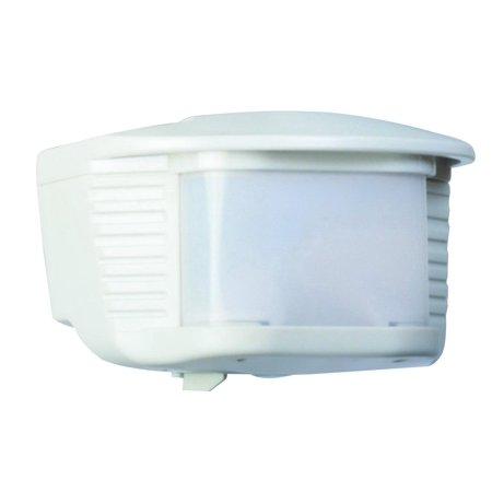 Designers Edge L6020WH Motion Sensor With Adaptor, 500 W, 120 V, 70 ft Detection Range, Plastic, White