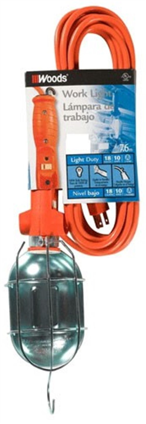 Coleman 692 Work Light with Outlet and Metal Guard, 120 V, 12 A, 75 W