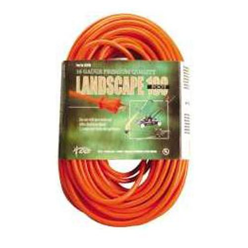 VINYL OUTDOOR SJTW EXTENSION CORD, 16/2, 100 FT., ORANGE