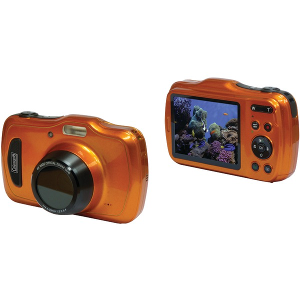 Coleman C30WPZ-O 20.0-Megapixel Xtreme4 HD Video Waterproof Digital Camera (Orange)