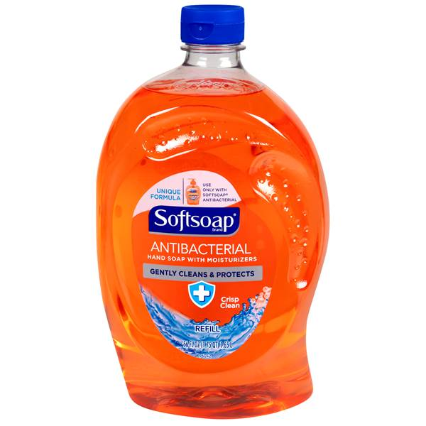 Antibacterial Liquid Hand Soap Refills, Fresh, 50 oz, Orange, 6/Carton