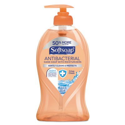 Antibacterial Hand Soap, Crisp Clean, 11 1/4 oz Pump Bottle, 6/Carton