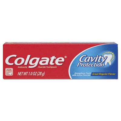 Cavity Protection Toothpaste, Regular Flavor, 1 oz Tube, 24/Carton