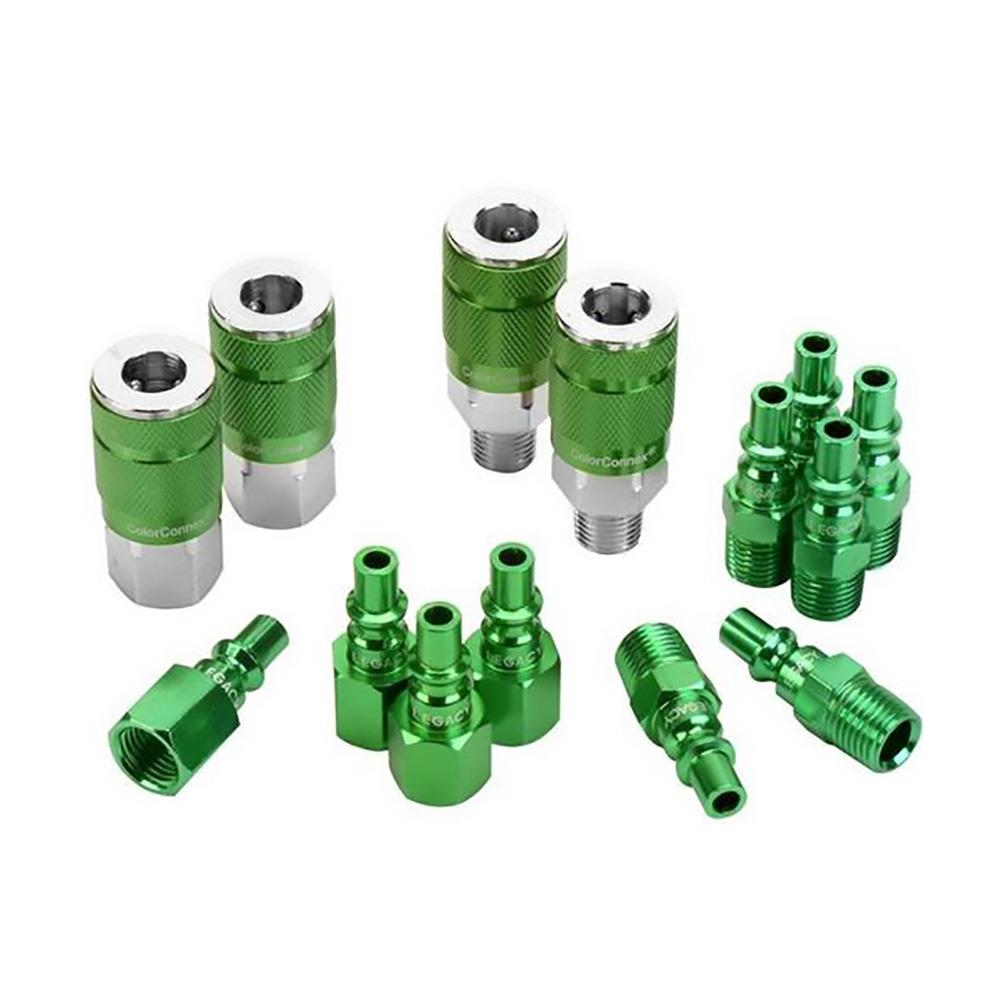 ColorConnex 14 Piece Coupler & Plug Kit (Green)