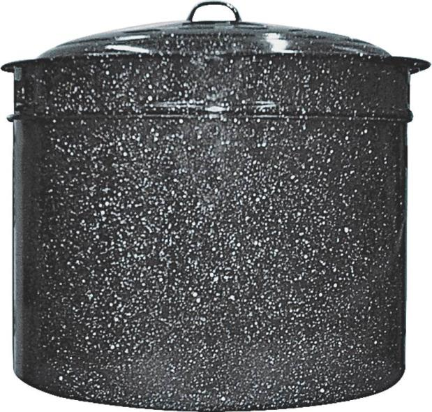 Columbia 6323-1 3-Piece Crab and Crawfish Cooker, 33 qt Capacity, Low Carbon Steel