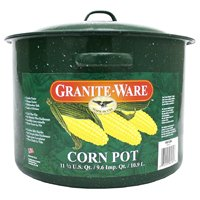 Graniteware 6134-2 Corn Pot, 11-1/2 qt Capacity, Carbon Steel
