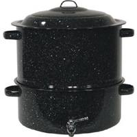Covered Steamer W/Faucet 19 Quart