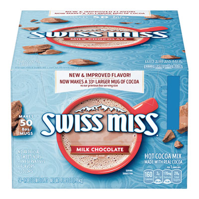 Hot Cocoa Mix, Regular, 0.73 oz Packet, 50/Packets/Carton
