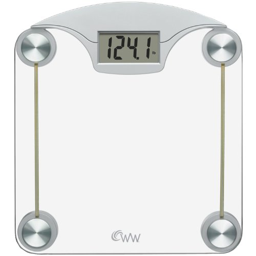 CONAIR WW39Y Weight Watchers Digital Glass & Chrome Scale