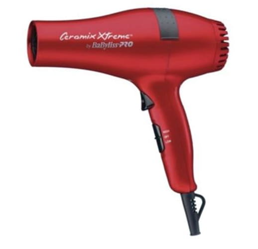 CONAIR BABR5572 RED BABYLISS PRO HAIRDRYER 2000 WATTS CERAMIC