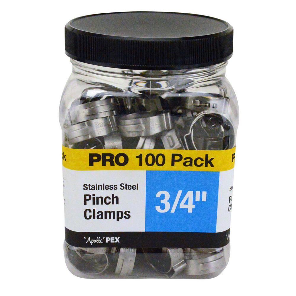 CLAMP PINCH 3/4IN 100 PACK/JAR