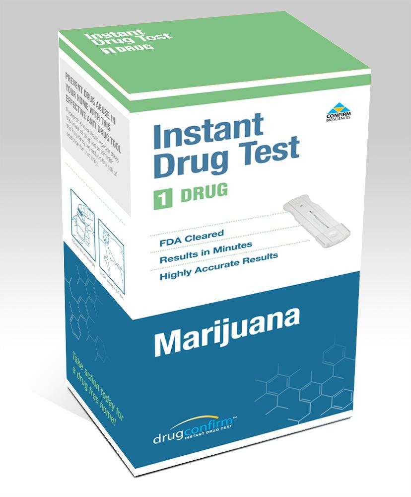 DRUGCONFIRM DRC1001 2264 1PANEL MARIJUANA DRUG TEST FAST