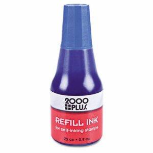 Self-Inking Refill Ink, Blue, 0.9 oz. Bottle
