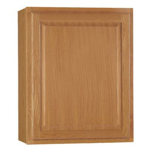RSI HOME PRODUCTS HAMILTON KITCHEN WALL CABINET, FULLY ASSEMBLED, RAISED PANEL, OAK, 24X30X12 IN.