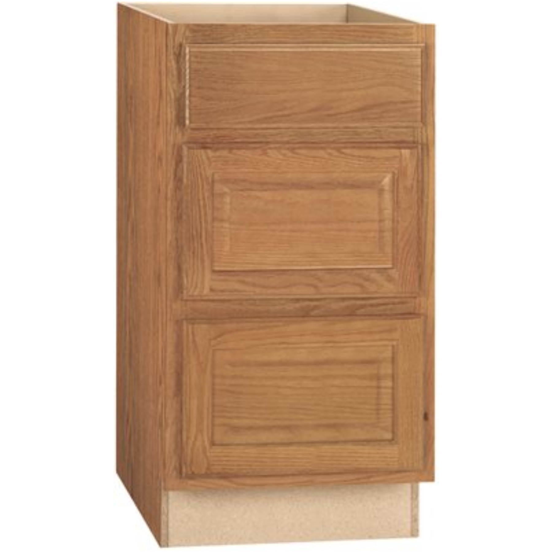 RSI HOME PRODUCTS HAMILTON DRAWER BASE CABINET, FULLY ASSEMBLED, RAISED PANEL, OAK, 24X34-1/2X24 IN.
