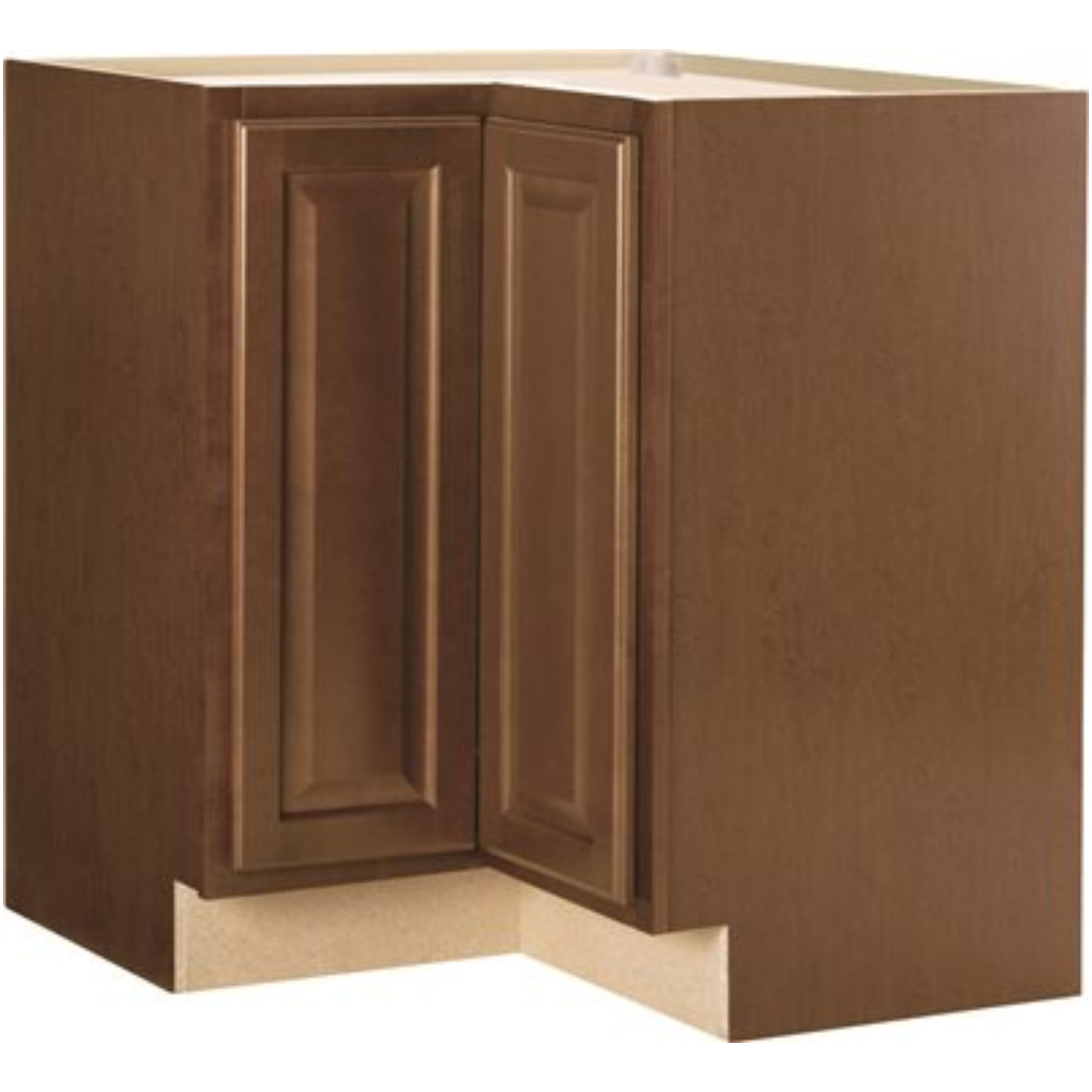 RSI HOME PRODUCTS HAMILTON BASE CABINET, FULLY ASSEMBLED, RAISED PANEL, CAFE, WITH LAZY SUSAN, 36X34-1/2X24 IN.