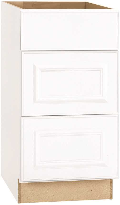 RSI HOME PRODUCTS HAMILTON DRAWER BASE CABINET, FULLY ASSEMBLED, RAISED PANEL, WHITE, 24X34-1/2X24 IN.