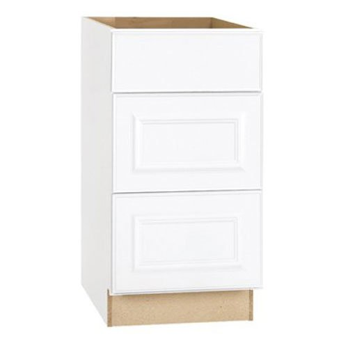 RSI HOME PRODUCTS HAMILTON DRAWER BASE CABINET, FULLY ASSEMBLED, RAISED PANEL, WHITE, 18X34-1/2X24 IN.