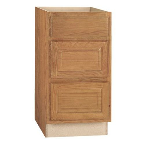 RSI HOME PRODUCTS HAMILTON DRAWER BASE CABINET, FULLY ASSEMBLED, RAISED PANEL, OAK, 18X34-1/2X24 IN.
