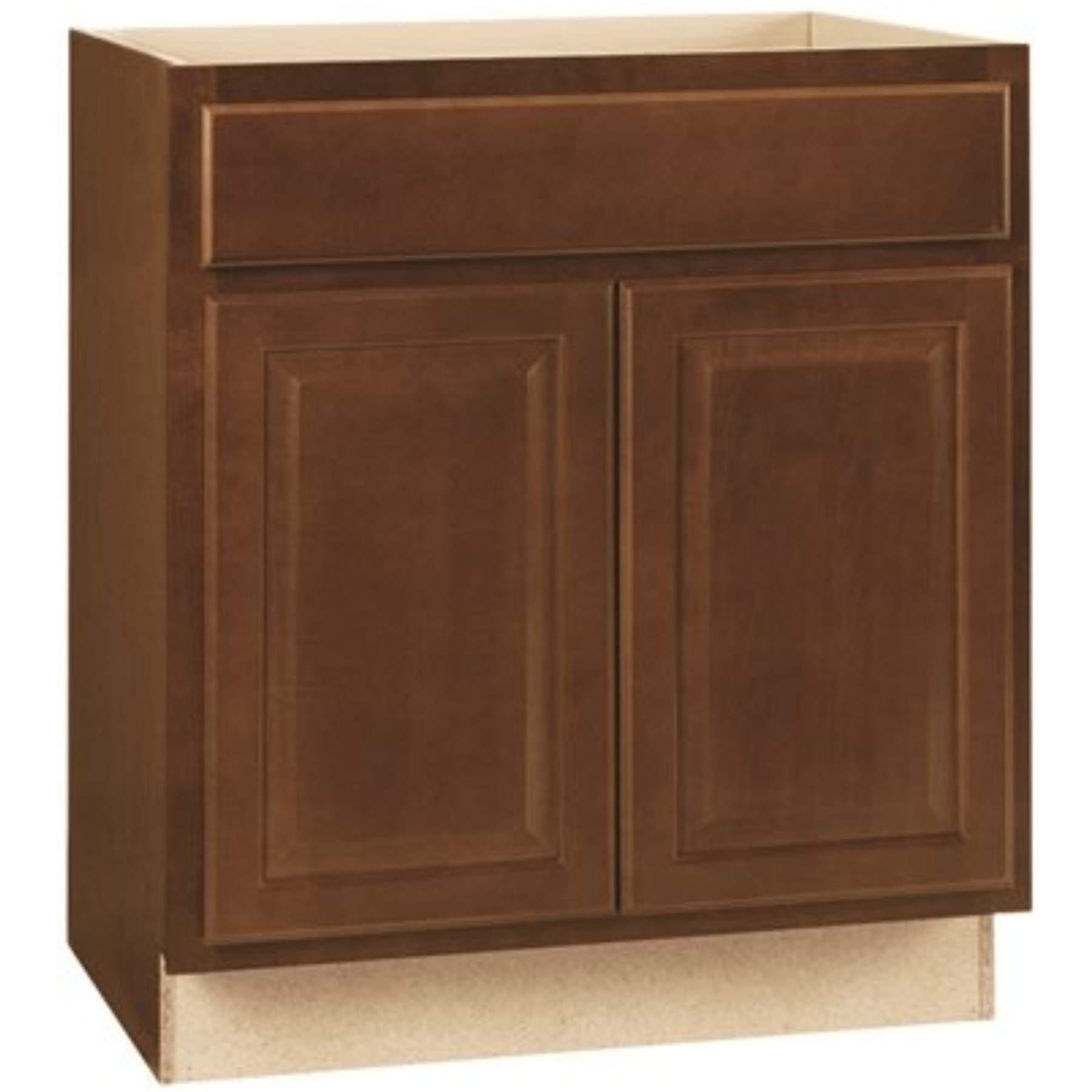 RSI HOME PRODUCTS HAMILTON SINK BASE CABINET, FULLY ASSEMBLED, RAISED PANEL, CAFE, 30X34-1/2X24 IN.