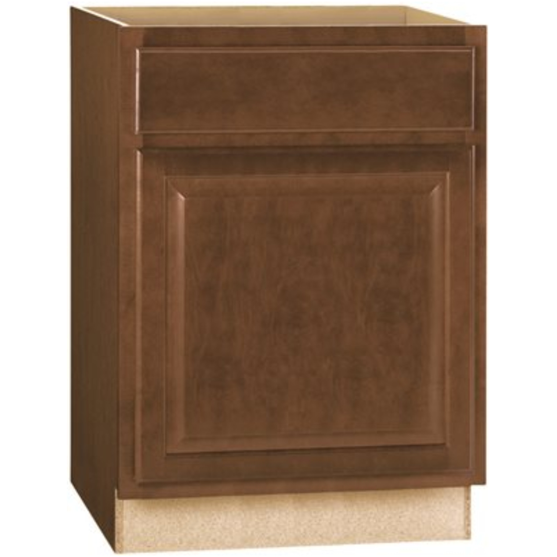RSI HOME PRODUCTS HAMILTON BASE CABINET, FULLY ASSEMBLED, RAISED PANEL, CAFE, 24X34-1/2X24 IN.