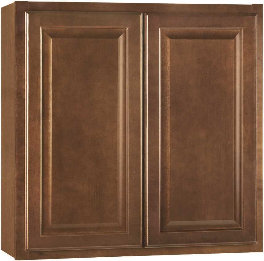 RSI HOME PRODUCTS HAMILTON KITCHEN WALL CABINET, FULLY ASSEMBLED, RAISED PANEL, CAFE, 36X30X12 IN.