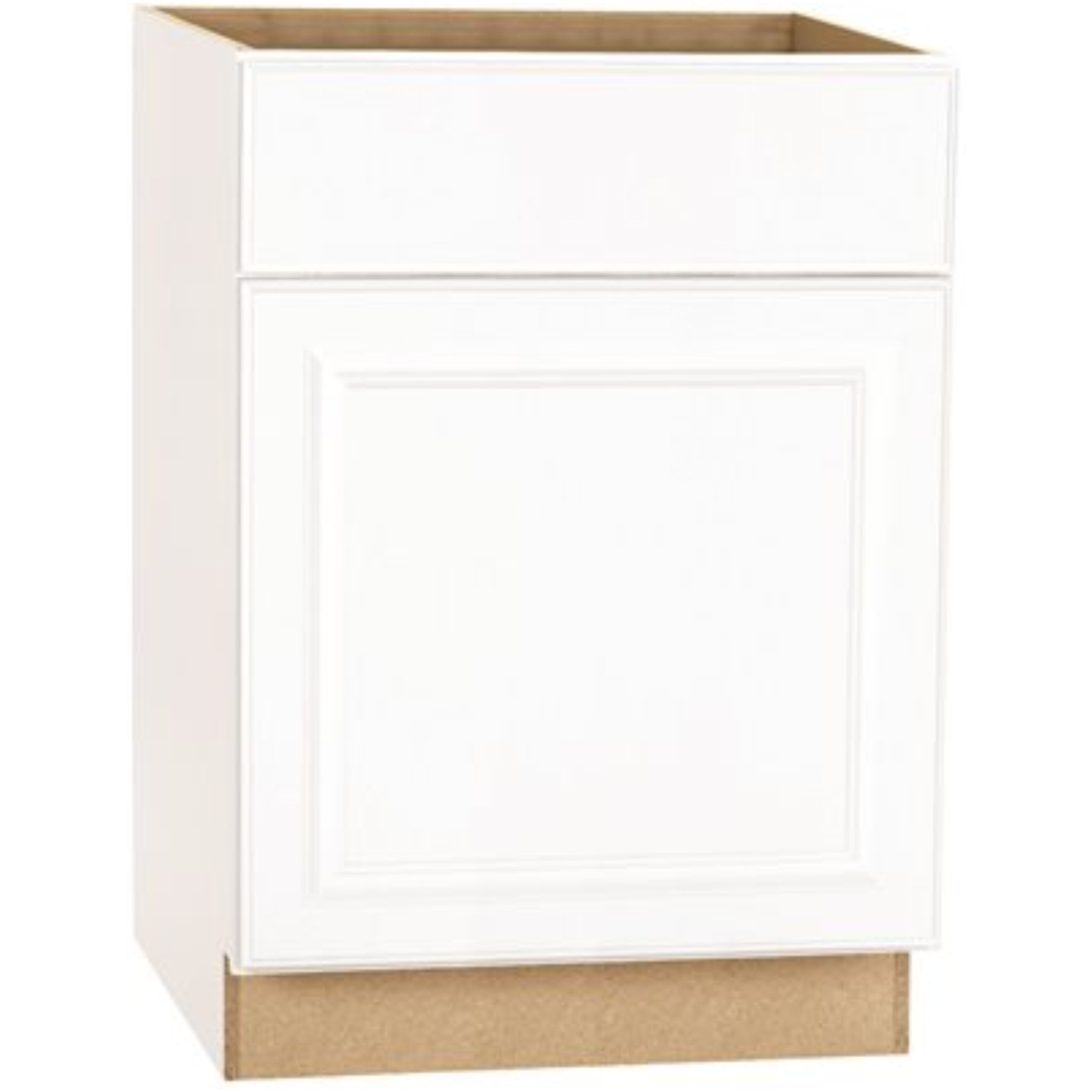 RSI HOME PRODUCTS HAMILTON BASE CABINET, FULLY ASSEMBLED, RAISED PANEL, WHITE, 27X34-1/2X24 IN.