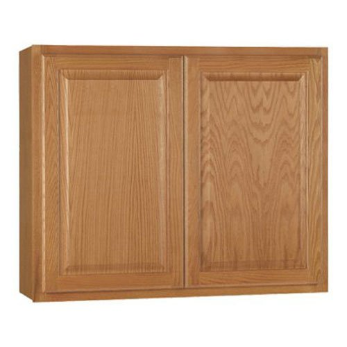 RSI HOME PRODUCTS HAMILTON KITCHEN WALL CABINET, FULLY ASSEMBLED, RAISED PANEL, OAK, 36X30X12 IN.