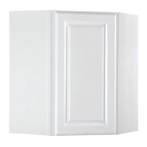 RSI HOME PRODUCTS KITCHEN CORNER WALL CABINET, FULLY ASSEMBLED, RAISED PANEL, WHITE, 24X30X12 IN.