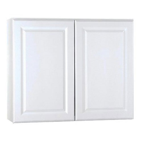 RSI HOME PRODUCTS KITCHEN WALL CABINET, FULLY ASSEMBLED, RAISED PANEL, WHITE, 36X30X12 IN.