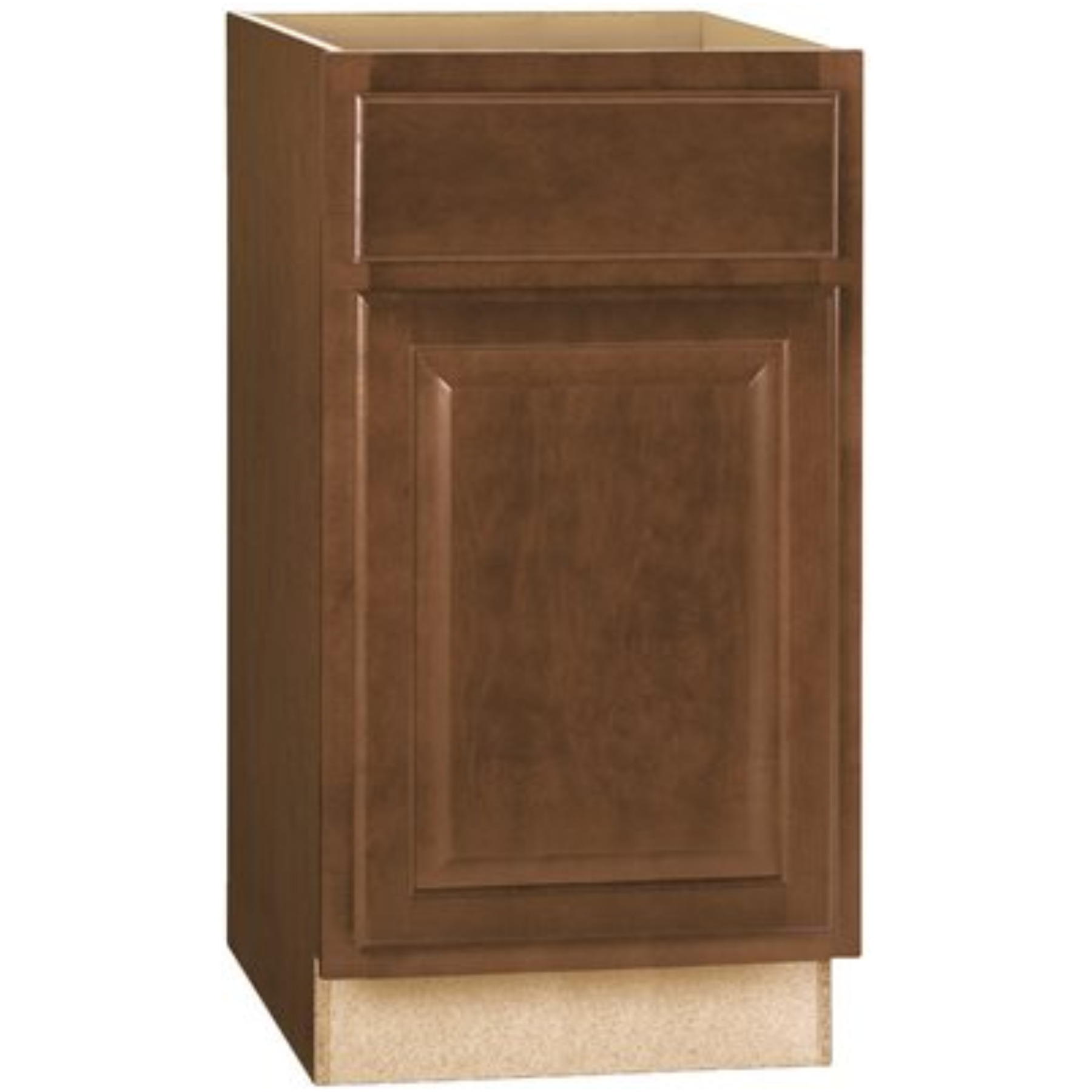 RSI HOME PRODUCTS HAMILTON BASE CABINET, FULLY ASSEMBLED, RAISED PANEL, CAFE, 18X34-1/2X24 IN.
