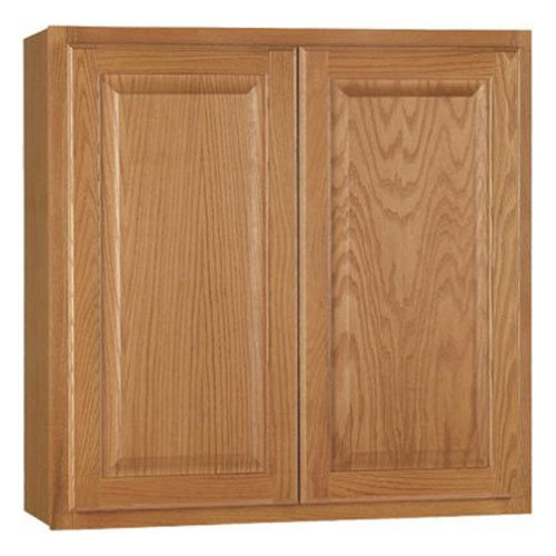 RSI HOME PRODUCTS HAMILTON KITCHEN WALL CABINET, FULLY ASSEMBLED, RAISED PANEL, OAK, 30X30X12 IN.