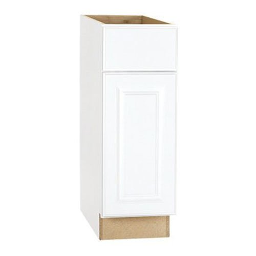 RSI HOME PRODUCTS HAMILTON BASE CABINET, FULLY ASSEMBLED, RAISED PANEL, WHITE, 12X34-1/2X24 IN.