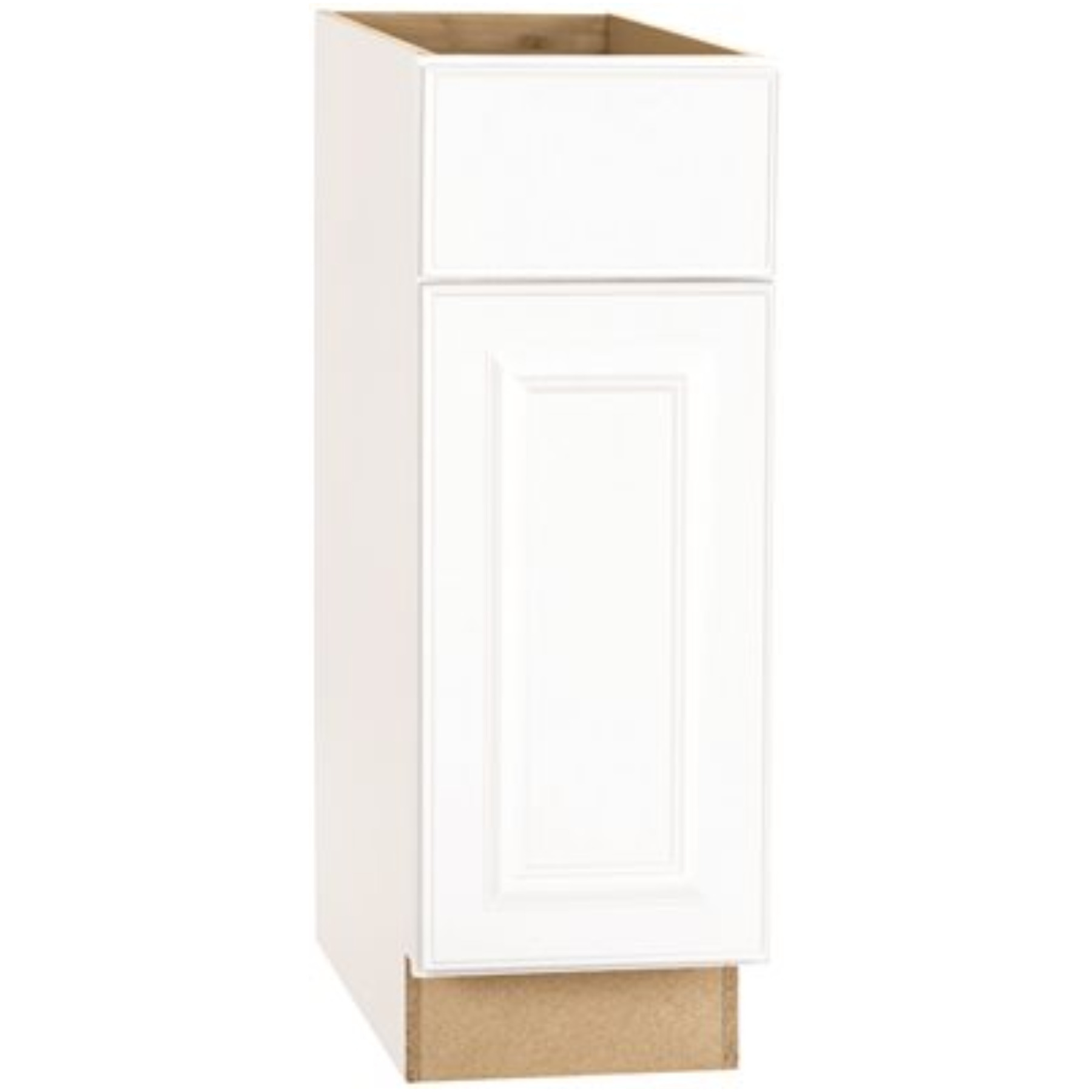 RSI HOME PRODUCTS HAMILTON BASE CABINET, FULLY ASSEMBLED, RAISED PANEL, WHITE, 9X34-1/2X24 IN.