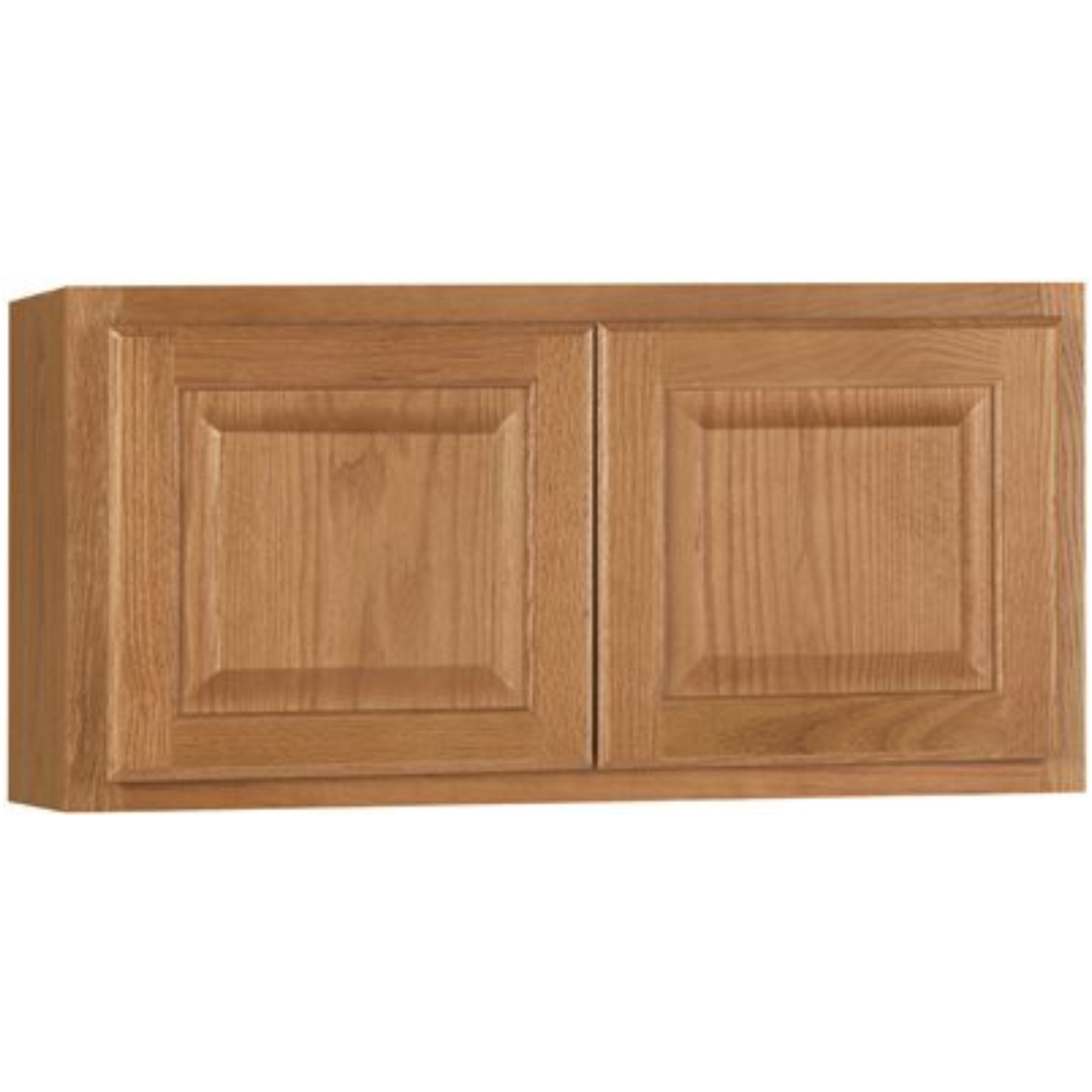 RSI HOME PRODUCTS HAMILTON KITCHEN WALL BRIDGE CABINET, FULLY ASSEMBLED, RAISED PANEL, OAK, 30X12X12 IN.