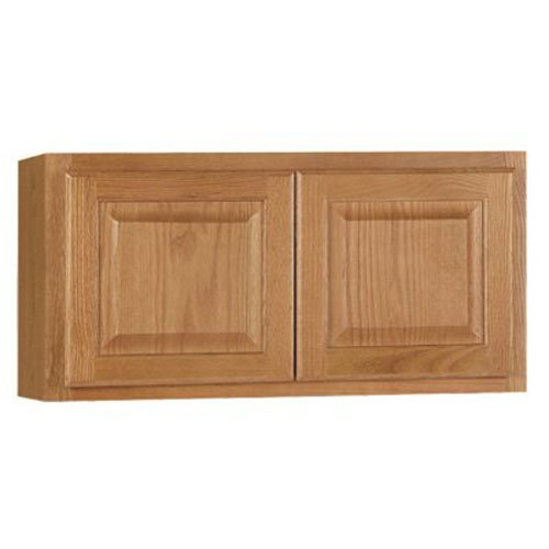 RSI HOME PRODUCTS HAMILTON KITCHEN WALL BRIDGE CABINET, FULLY ASSEMBLED, RAISED PANEL, OAK, 30X15X12 IN.