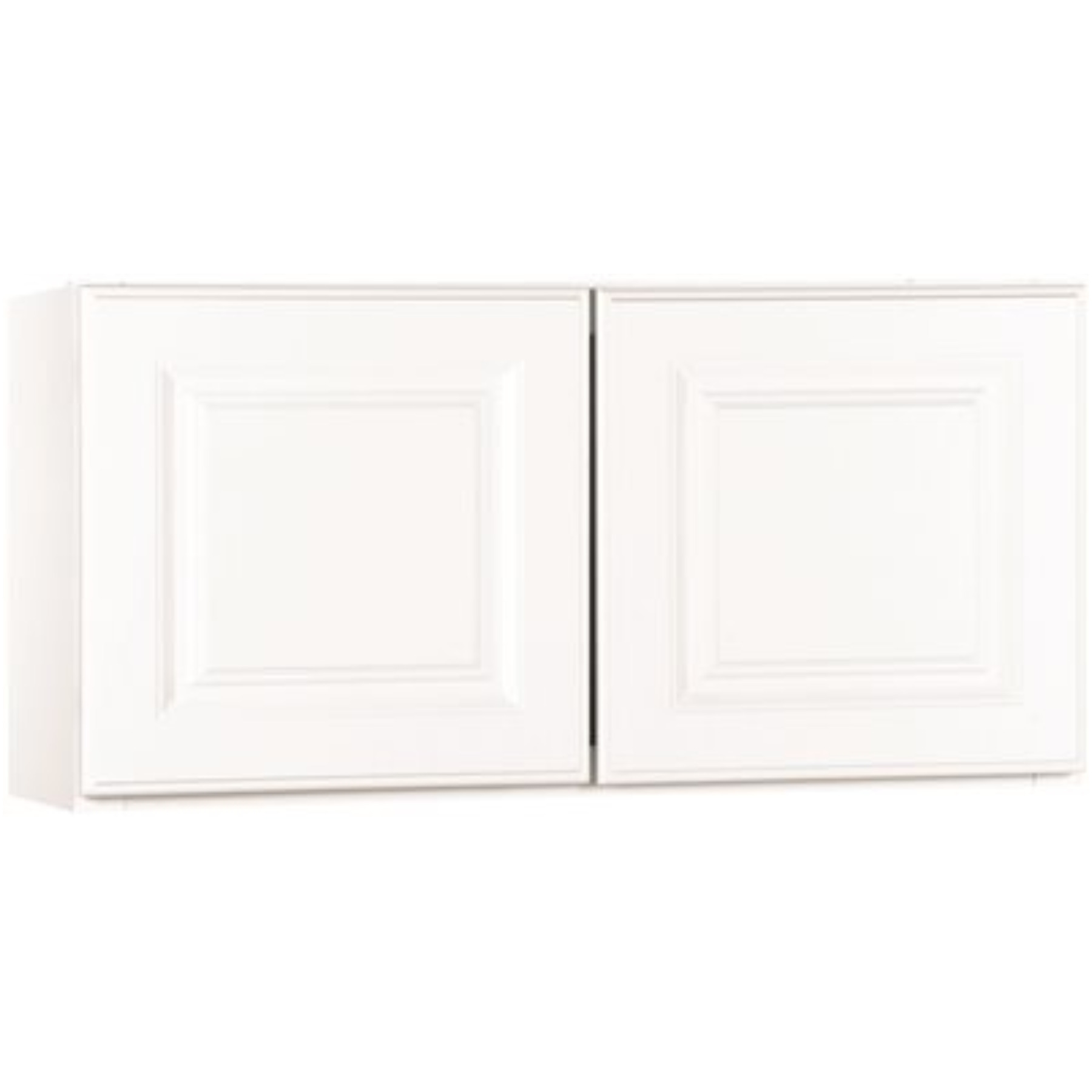 RSI HOME PRODUCTS KITCHEN WALL BRIDGE CABINET, FULLY ASSEMBLED, RAISED PANEL, WHITE, 30X12X12 IN.