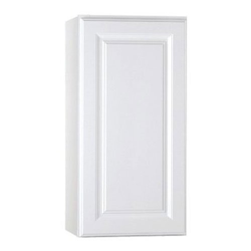 RSI HOME PRODUCTS KITCHEN WALL CABINET, FULLY ASSEMBLED, RAISED PANEL, WHITE, 15X30X12 IN.