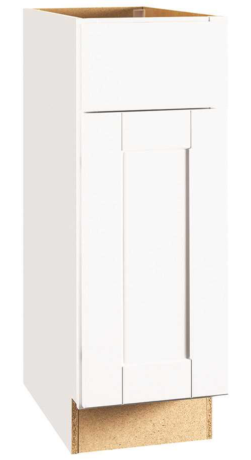 RSI HOME PRODUCTS ANDOVER SHAKER BASE CABINET, WHITE, 12 IN.