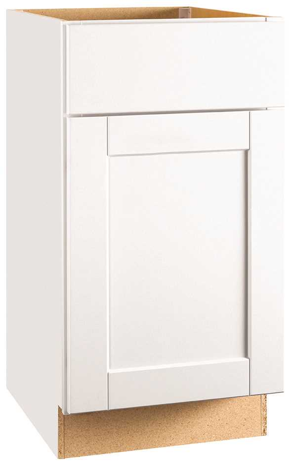 RSI HOME PRODUCTS ANDOVER SHAKER BASE CABINET, WHITE, 18 IN.