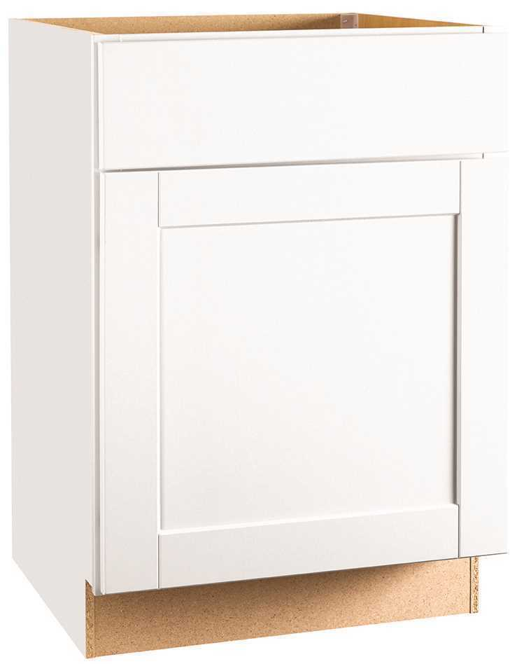 RSI HOME PRODUCTS ANDOVER SHAKER BASE CABINET, WHITE, 24 IN.