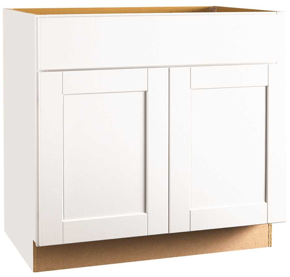 RSI HOME PRODUCTS ANDOVER SHAKER SINK BASE CABINET, WHITE, 36 IN.